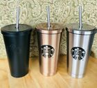 Starbucks Stainless Steel Insulated 16oz Tumbler, Gold/silver/Black coffee cup
