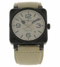 Bell& Ross Aviation Desert Type Automatic Men's 42mm Watch BR0392-DESERT-CE