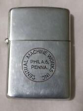 Vtg 1940s ZIPPO Lighter 3 Barrel Hinge 2032695 CENTRAL MACHINE WORKS PHILA PA
