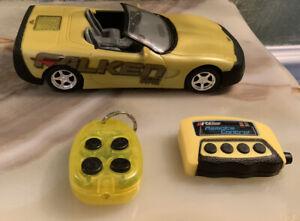 Toy Max mustard yellow 1999 Corvette Convertible. 1:24 Plastic. R.C.