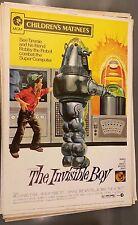 Invisible Boy rare reissue 40 x 60  poster Robby the Robot Forbidden Planet