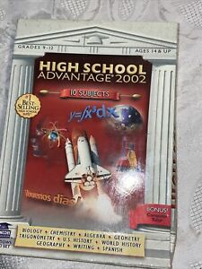 High School Advantage 2002 PC 6 CD-Rom SET 10 Subjects Grades 9-12 Ages 14+