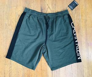 Calvin Klein Sleepwear Sweatshorts Drawstring Olive/Black Size XL NWT