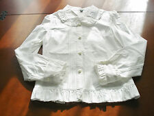 Bodyline Sweet Lolita White Long Sleeve Pintuck Blouse Child Size 140 NWT