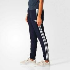 Adidas Originals Ladies Track Pants   Blue Tapered Trackie Bottoms BNWT UK 10