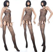 Combinaison Catsuit Femme Sexy Collant Ouvert Bas résille Bodystockings ADRIENNE