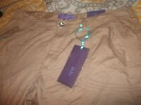 Deja-Bleu Tan Woman Casual Pants *Adult Size 20*  New With Tag 100%Cotton (B72)