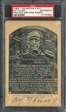 Cy Young Autographed Signed 1953-63 Artvue HOF Plaque Postcard PSA/DNA 31157942
