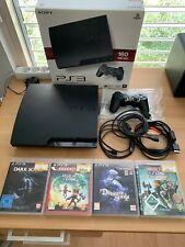 PlayStation 3 160GB mit Controller, OVP, 4 Games, Kabeln + Anleitung