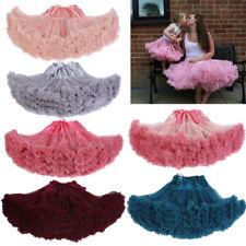 Adult Women Tutu Skirt Fluffy Pettiskirt Petticoat Princess Ballet Party Dance