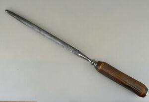Vintage Antique Deer Stag Horn Knife Hone Sharpener Steel Rod