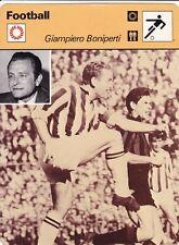FOOTBALL carte joueur fiche photo GIAMPIERO BONIPERTI équipe JUVENTUS