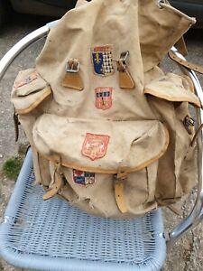 ancien sac a dos  lafuma scout randonnée montagne déco vintage