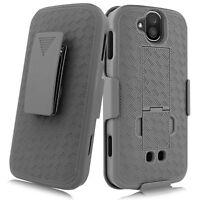 For Kyocera Duraforce Pro Slim Shell Holster Combo Case + Belt Clip+ Kickstand