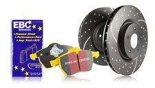 EBC Rear GD Sport Discs Yellowstuff Pads for Mitsubishi Lancer Evo 1 2.0T 92>94