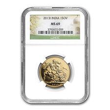2013 India Gold Sovereign MS-69 NGC - SKU #82382