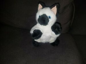 Melissa & Doug Lifelike Lovable Himalayan Siamese Black White Kitty Cat Plush
