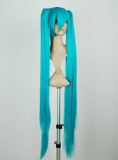 Turquoise Blue Long Wig for VOCALOID Hatsune Miku Cosplay Wig + 40inch Ponytails