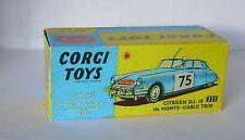 Repro box CORGI Nº 323 CITROEN DS 19 Monte Carlo
