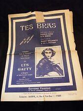 Partition Tes bras Lys Gauty Music Sheet