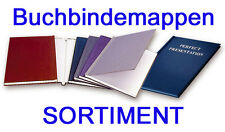 8 Thermo - Buchbindemappen, HardCover Thermobindemappen, Sortiment Thermomappen