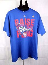 NEW MAJESTIC CHICAGO CUBS TSHIRT 2016  NATIONALS Champions Blue Adult SIZE L