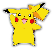 Pokemon Pikachu Cartoon Car Bumper Sticker Decal 4'' x 5''