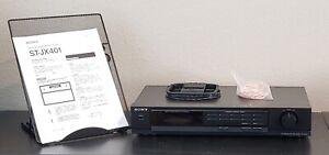 SONY ST-JX401 Digital AM/FM Stereo Tuner, Digital Synthesizer w/Antennas, Manual