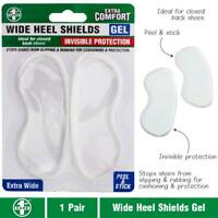 Invisible Heel Shields Support Cushion Shoe Stick Sticker Feet Foot Pad Gel Care