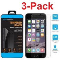 3-Pack For iPhone X XS MAX XR 7 8 Plus Tempered GLASS Screen Protector Case