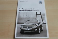102460) VW Passat + Variant - individual - Preise & Extras - Prospekt 11/2008