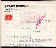 Poland 1939 Legal Document with multiple Polish stamps WS9899