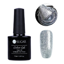 7.5ml Soak Off Nail Art UV Gel Polish Glitter Platinum Luxury Shining UR SUGAR