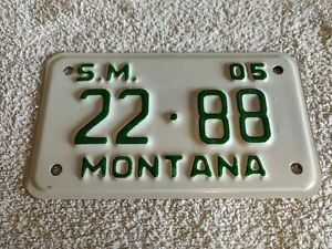 MONTANA **CLEARANCE £4.99 £5.99** MOTORCYCLE USA Genuine Pre-Owned License Plate