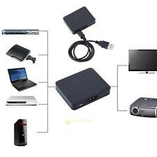 HDMI 1 In 2 Out Splitter Amplifier Duplicator Full HD 1080P HDTV + USB Cable