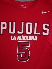 Nike MLB Los Angeles Angels Pujols La Maquina Machine Shirt Mens Size XL