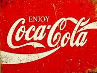 Coca Cola Vintage Retrò Pubblicità Metallo Muro Cartello Targa Barrette