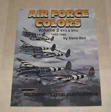 1980 SQUADRON SIGNAL PRODUCTIONS AIR FORCE COLORS Volume 2 ETO & MTO SC BOOK