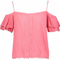 SUPERDRY Women's PEEK_A_BOO Women's Top, Sugar Coral, size XS / UK 8