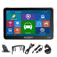 XGODY 5'' GPS SAT Navigation Built-in MP3 Free UK Full Europe 3D Map HD Screen