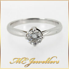 GIA Certified 0.50ct E/VS2 Natural Diamond Engagement Ring 18K 18ct White Gold