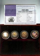coffret USA 4 x 1/2 dollars KENNEDY 2003 finition or + couleurs avec certificat