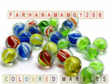 100 Coloured Glass Marbles Kids Toy Traditional Classic Retro Gift Game Party