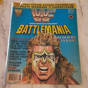 WWF Battlemania #1 Valiant Comics 1991 Ultimate Warrior Cover Wrestling Magazine