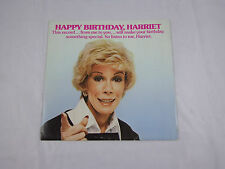 JOAN RIVERS HAPPY BIRTHDAY HARRIET CUSTOM Record  card with envelope  1977