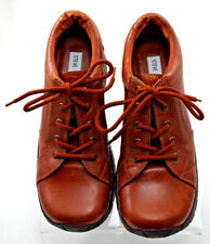 STEVE MADDEN Garvey Women Leather Burnt orange/Brown Lace Up Sneaker Shoe 9.5B