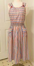 New listing Vintage 1940s cotton sun dress day dress B 37