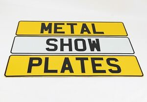 2x Pressed 3D Metal Novelty Fun Show Premium Plates NOT road legal German Style