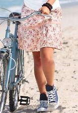 Geblümte Damenröcke im A-Linien-Stil aus Baumwolle für die Freizeit