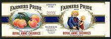FARMERS PRIDE Brand, Hullman & Co,  *AN ORIGINAL 1930's TIN CAN LABEL* 9oz C15